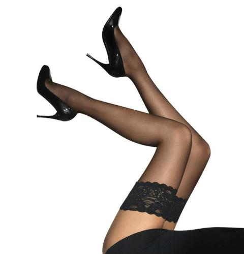 9e3d52e23353fe Włoskie seksowne pończochy samonośne Lycra - Bielizna9